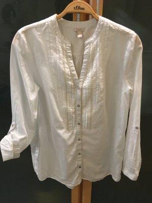 Esprit Long Blouse white-cream cotton