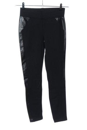 Esprit Leggings negro estampado a rayas look casual