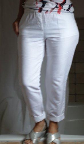 Esprit Pantalon en lin blanc lin