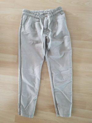 Esprit Lniane spodnie jasnoszary