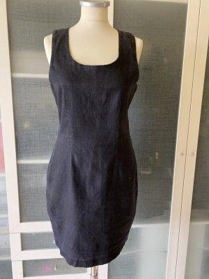 Esprit Leinen Kleid Gr 38 schwarz