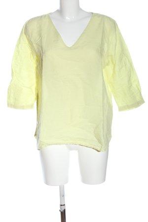 Esprit Blusa de lino amarillo pálido look casual