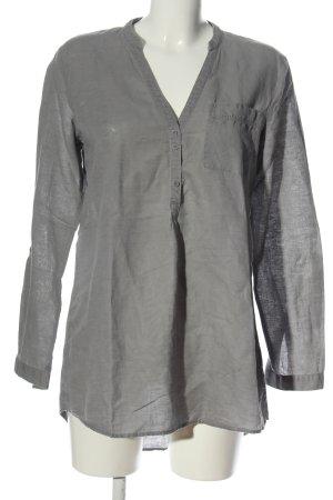 Esprit Blusa de lino gris claro look casual
