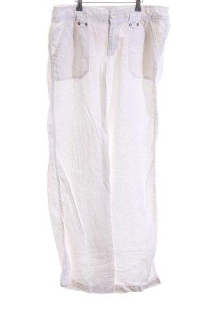 Esprit Pantalón de lino blanco look casual