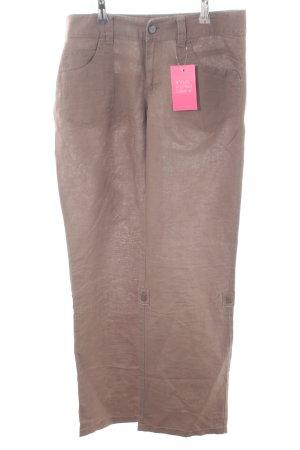 Esprit Pantalón de lino color bronce look casual