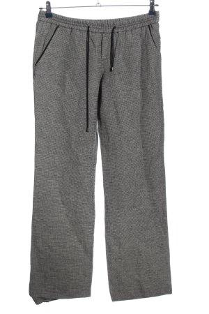Esprit Pantalon en lin noir-blanc motif à carreaux style décontracté