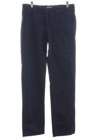 Esprit Pantalon en lin bleu style d'affaires