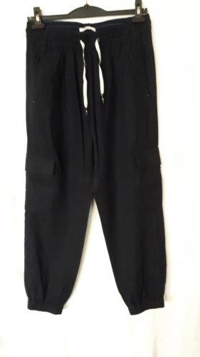 Esprit Pantalón de lino azul oscuro