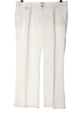 Esprit Pantalone di lino bianco stile casual