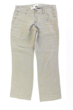 Esprit Lniane spodnie oliwkowy Len