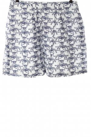 Esprit Lniana spódnica niebieski-biały Na całej powierzchni W stylu casual