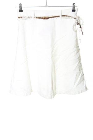 Esprit Falda de lino blanco look casual