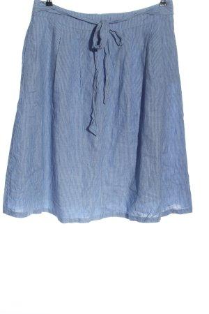 Esprit Jupe en lin bleu motif rayé style décontracté