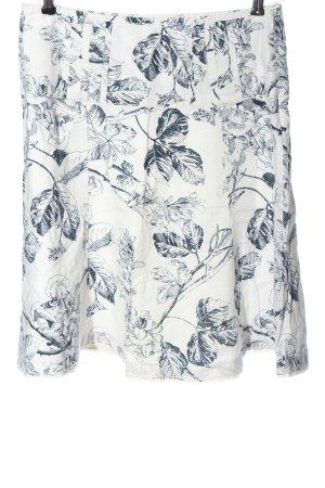Esprit Jupe en lin blanc-bleu imprimé allover élégant