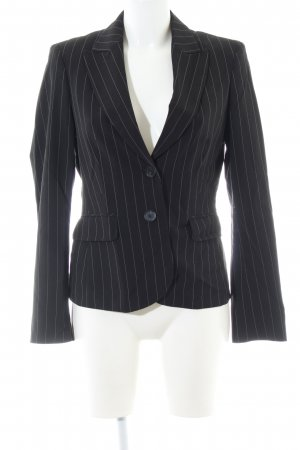 Esprit Long-Blazer schwarz Streifenmuster Business-Look