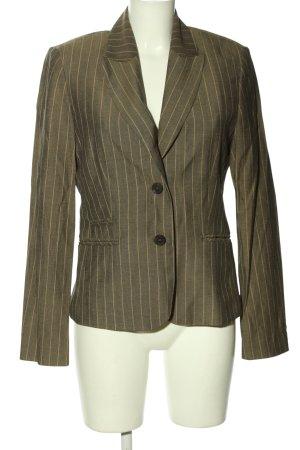 Esprit Long-Blazer khaki-wollweiß Streifenmuster Business-Look