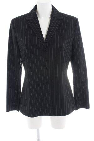 Esprit Long-Blazer weiß-schwarz Streifenmuster Business-Look