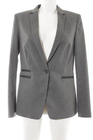 Esprit Long-Blazer grau-schwarz Fischgrätmuster Business-Look