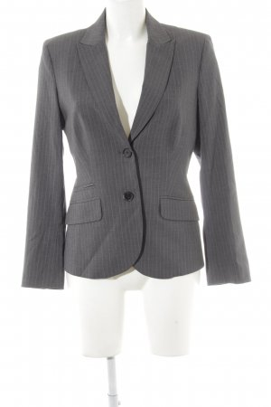 Esprit Long-Blazer grau Streifenmuster Business-Look