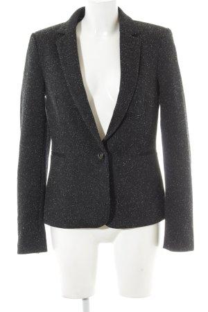 Esprit Long-Blazer schwarz-wollweiß meliert Elegant