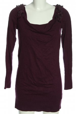 Esprit Long-Bluse lila Zopfmuster Casual-Look