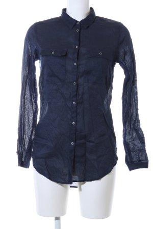 Esprit Long-Bluse blau Business-Look