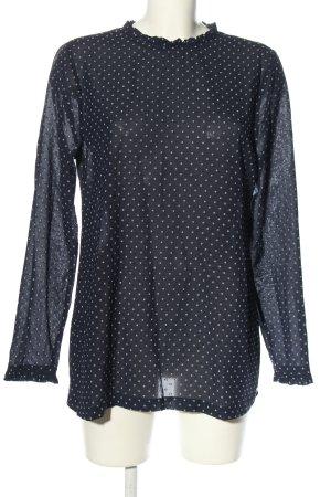 Esprit Long-Bluse blau-weiß Punktemuster Business-Look