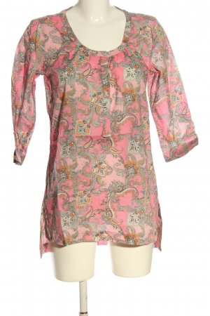 Esprit Long-Bluse pink-hellorange abstraktes Muster Casual-Look