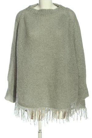 Esprit Długi sweter jasnoszary W stylu casual