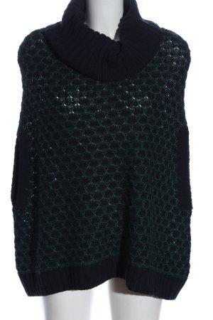 Esprit Longpullover schwarz-grün Webmuster Casual-Look