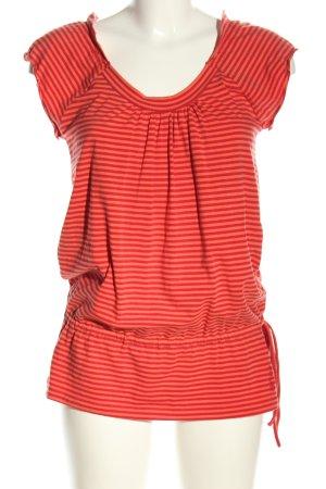 Esprit Camicia lunga rosso-arancione chiaro motivo a righe stile casual