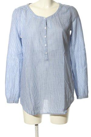 Esprit Longshirt blau-weiß Streifenmuster Casual-Look