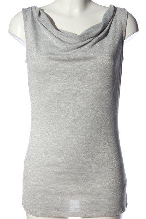 Esprit Długa koszulka jasnoszary Melanżowy W stylu casual