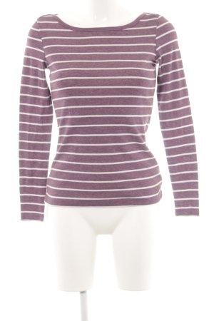 Esprit Longsleeve pink-weiß Streifenmuster Casual-Look