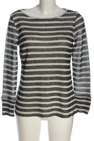 Esprit Longsleeve schwarz-weiß Streifenmuster Casual-Look