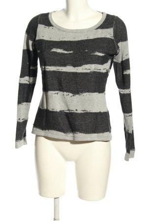 Esprit Koszulka z długim rękawem jasnoszary-czarny Abstrakcyjny wzór