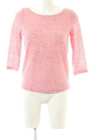 Esprit Longsleeve pink Streifenmuster Casual-Look