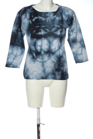 Esprit Longsleeve schwarz-weiß abstraktes Muster Casual-Look