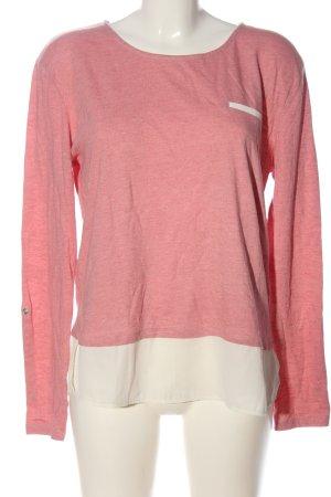 Esprit Longsleeve pink-creme meliert Casual-Look