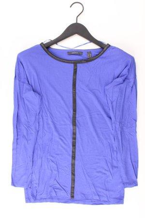 Esprit Longsleeve-Shirt Größe XS Langarm blau aus Viskose