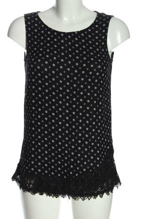 Esprit Lange top zwart-wit volledige print casual uitstraling