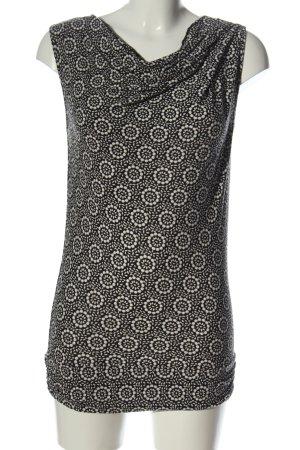 Esprit Lange top wit-zwart abstract patroon elegant