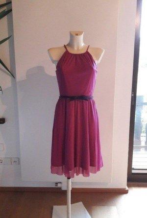 Esprit Vestido corte imperio magenta-violeta