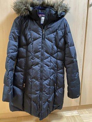 Esprit Abrigo acolchado negro-marrón