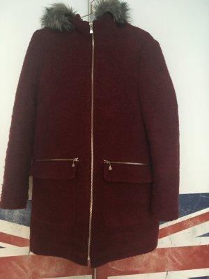 Esprit Manteau à capuche bordeau-gris