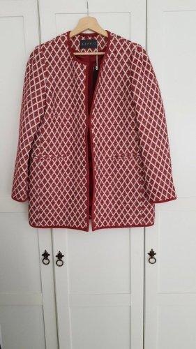 Esprit Heavy Pea Coat dark red-white
