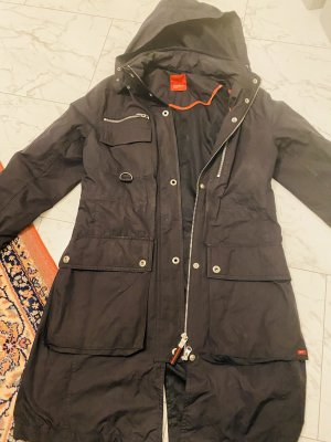 Esprit Heavy Raincoat black-silver-colored