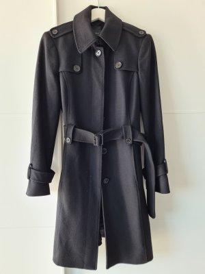 ESPRIT Mantel, Trenchcoat-Stil, schwarz, Wolle, Gr.38