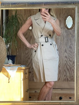 Esprit Gabardina tipo vestido gris claro-beige claro