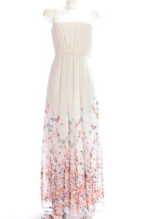 Esprit Maxikleid weiß-pink Blumenmuster Elegant